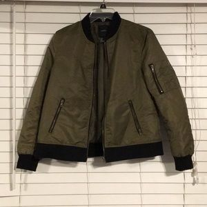Military Green Bomber Jacket
